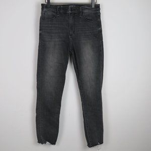 High Rise Super Skinny Ankle Faded Gray Jeans